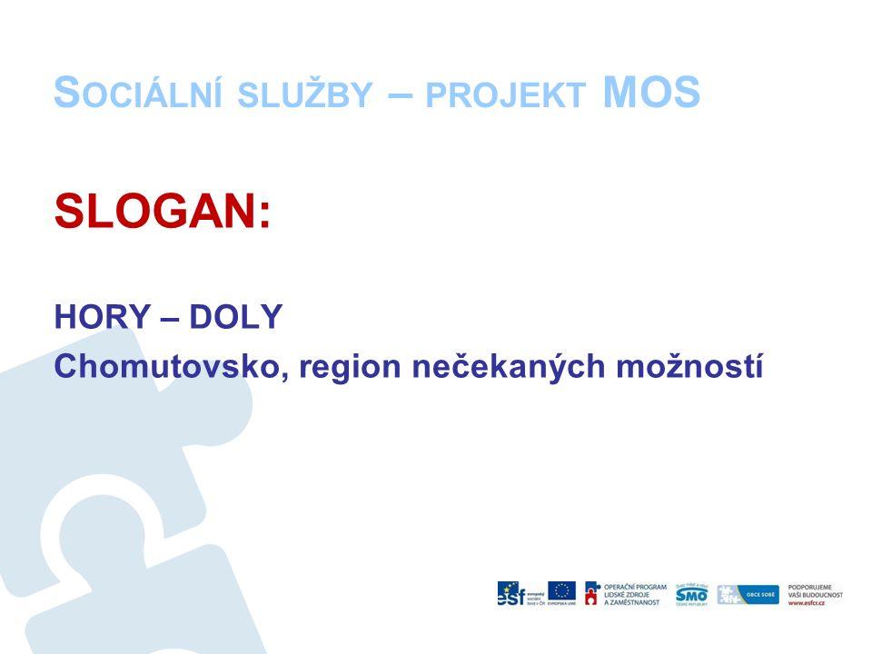 S OCIÁLNÍ SLUŽBY – PROJEKT MOS SLOGAN: HORY – DOLY Chomutovsko, region nečekaných možností