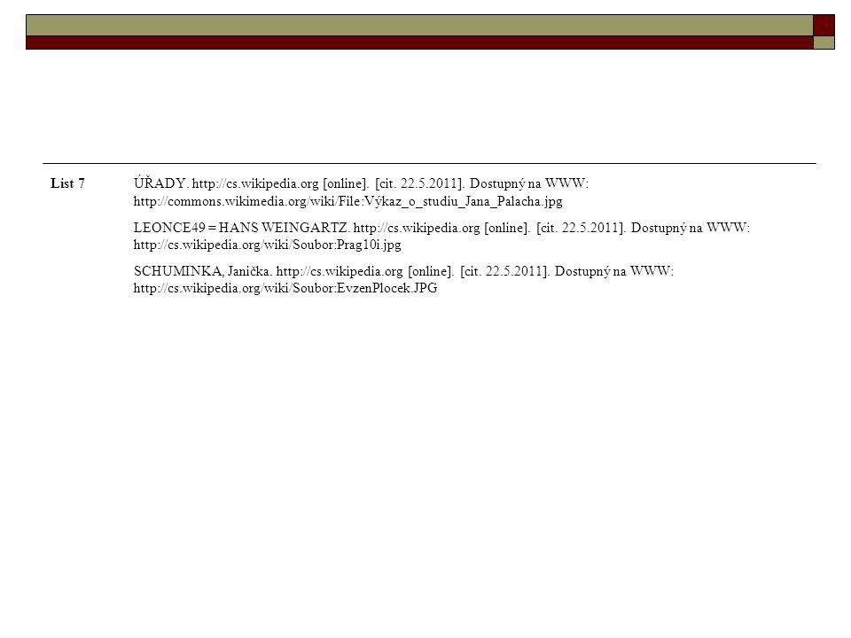 List 7ÚŘADY. http://cs.wikipedia.org [online]. [cit.