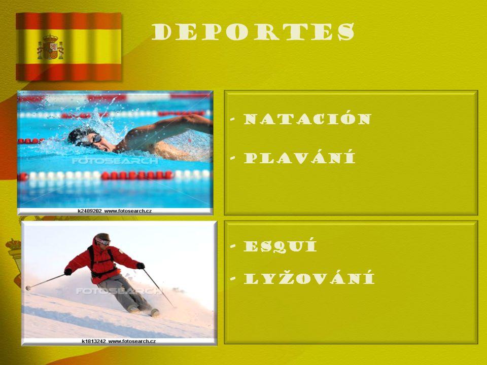 deportes - NATACIÓN - Plavání - ESQUÍ - Lyžování