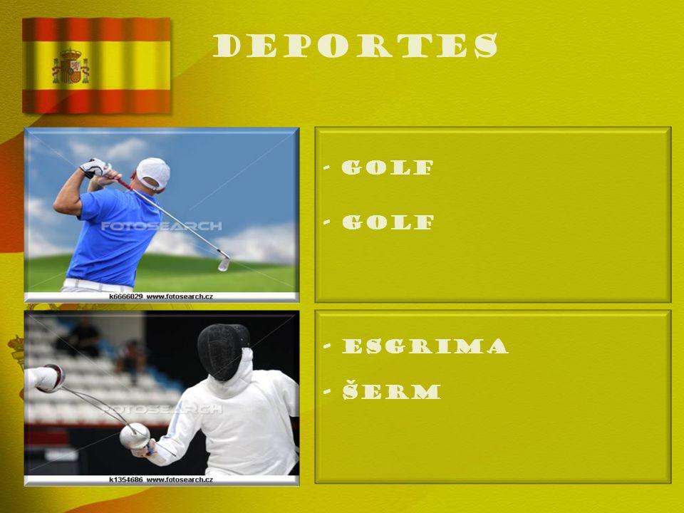 deportes - GOLF - Golf - ESGRIMA - Šerm