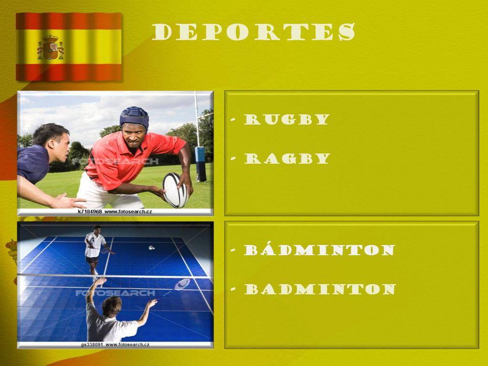 deportes - RUGBY - Ragby - BÁDMINTON - Badminton