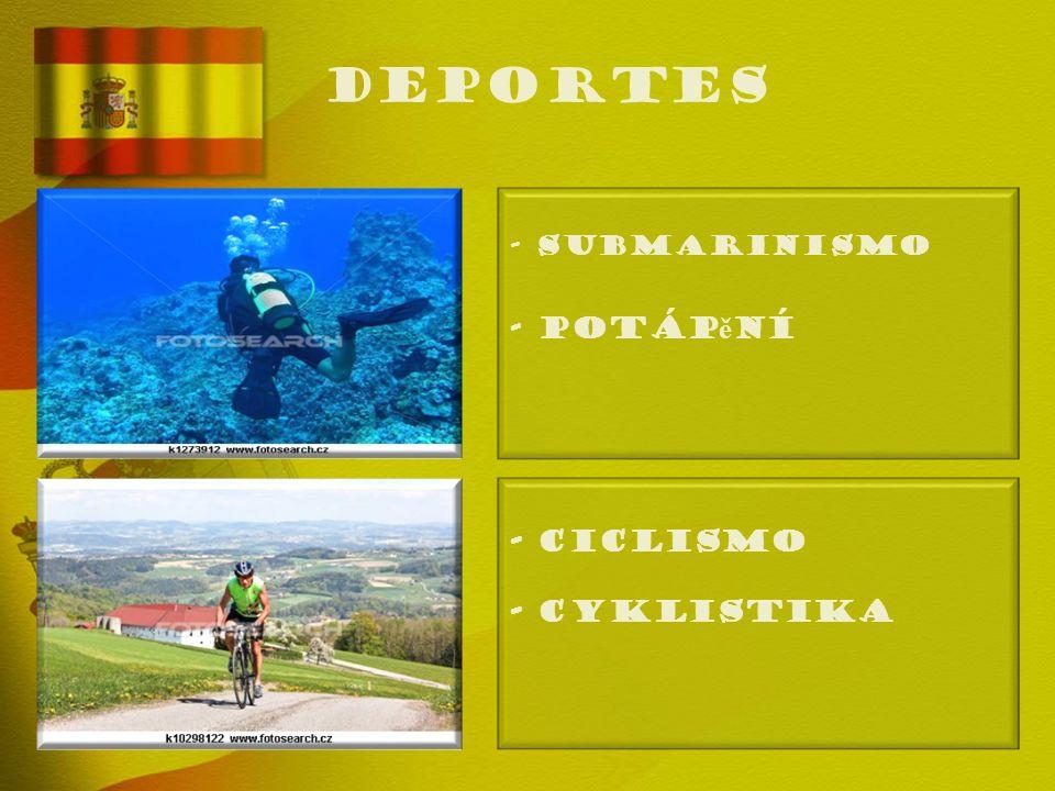 deportes - SUBMARINISMO - Potáp ě ní - CICLISMO - Cyklistika