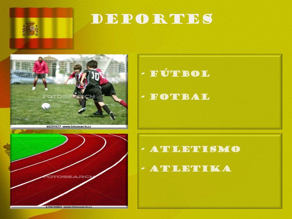 deportes - FÚTBOL - Fotbal - ATLETISMO - Atletika