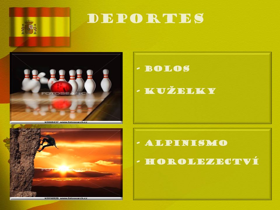 deportes - BOLOS - Kuželky - ALPINISMO - Horolezectví