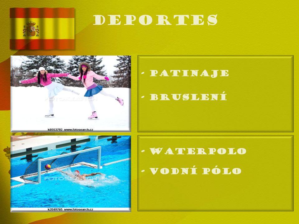 deportes - PATINAJE - Bruslení - WATERPOLO - Vodní pólo