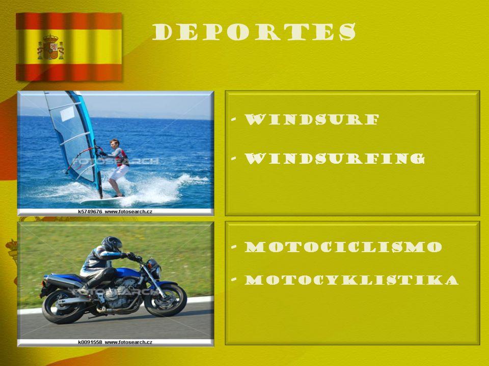 deportes - WINDSURF - Windsurfing - MOTOCICLISMO - Motocyklistika
