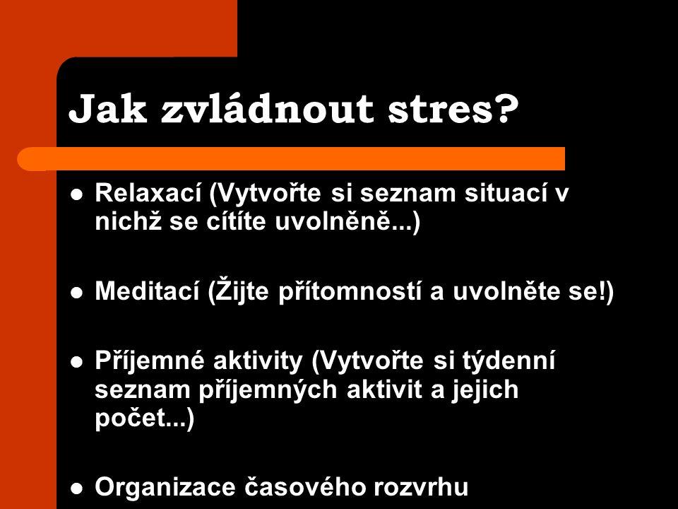 Jak zvládnout stres.