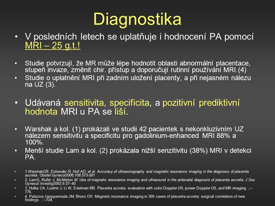 Diagnostika V posledních letech se uplatňuje i hodnocení PA pomocí MRI – 25 g.t..