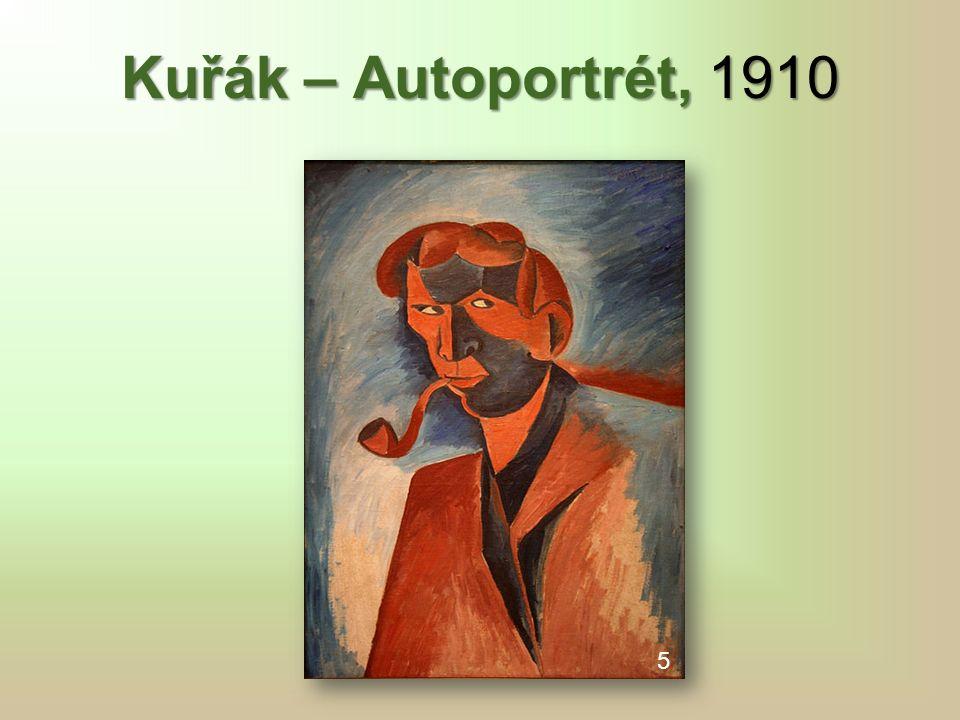 Kuřák – Autoportrét, 1910 5