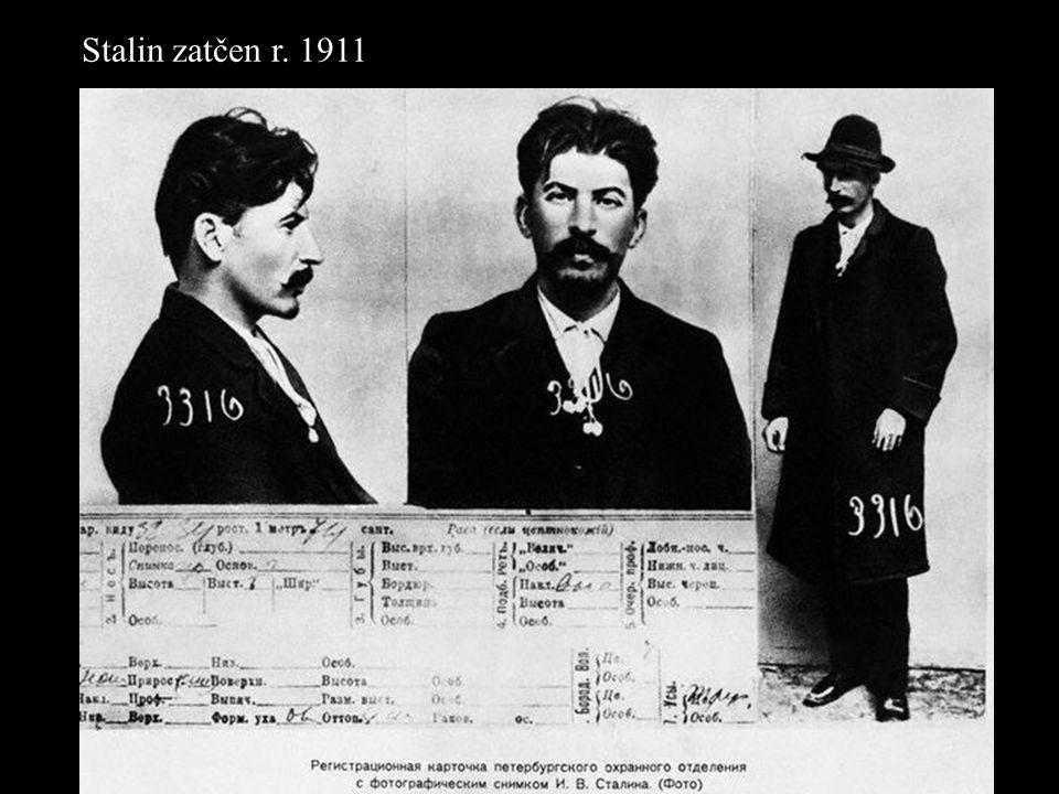 Stalin zatčen r. 1911