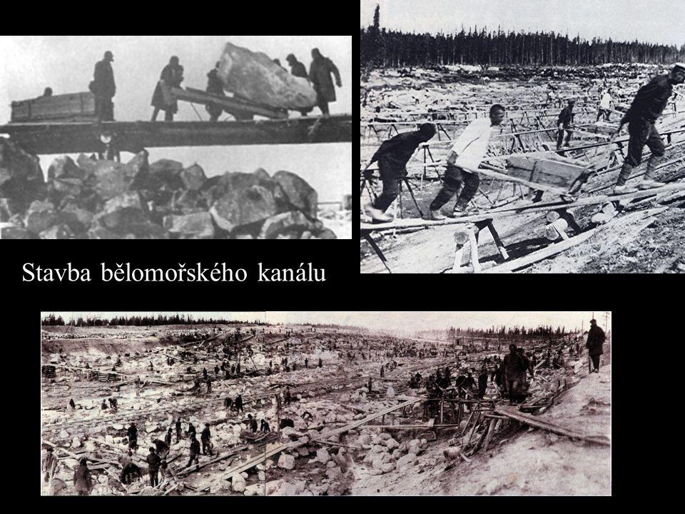 Stavba bělomořského kanálu