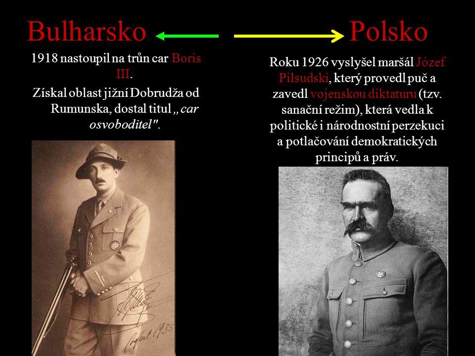Bulharsko 1918 nastoupil na trůn car Boris III.