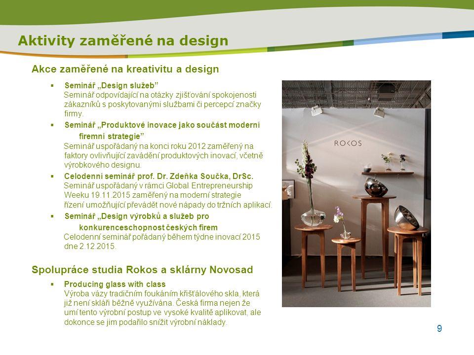 """Seminář """"Design výrobků a služeb Kdy: 2."""
