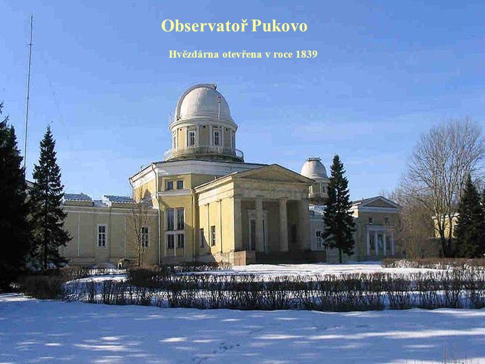 Observatoř Pukovo Hvězdárna otevřena v roce 1839