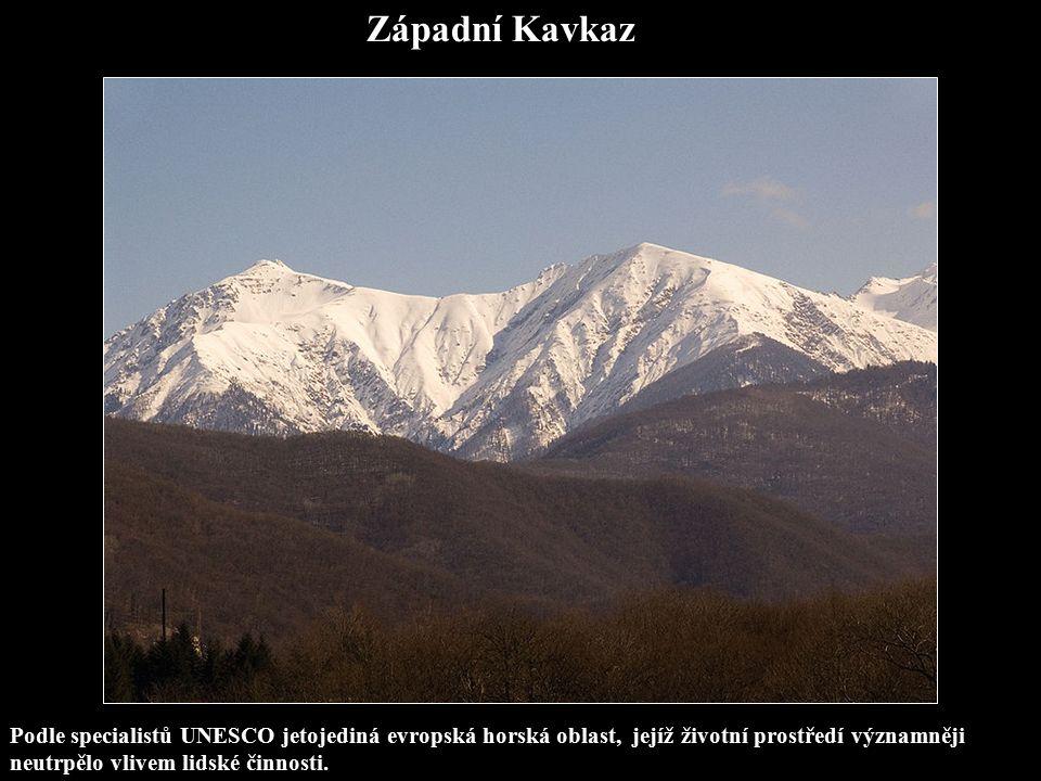 Západní Kavkaz Podle specialistů UNESCO jetojediná evropská horská oblast, jejíž životní prostředí významněji neutrpělo vlivem lidské činnosti.