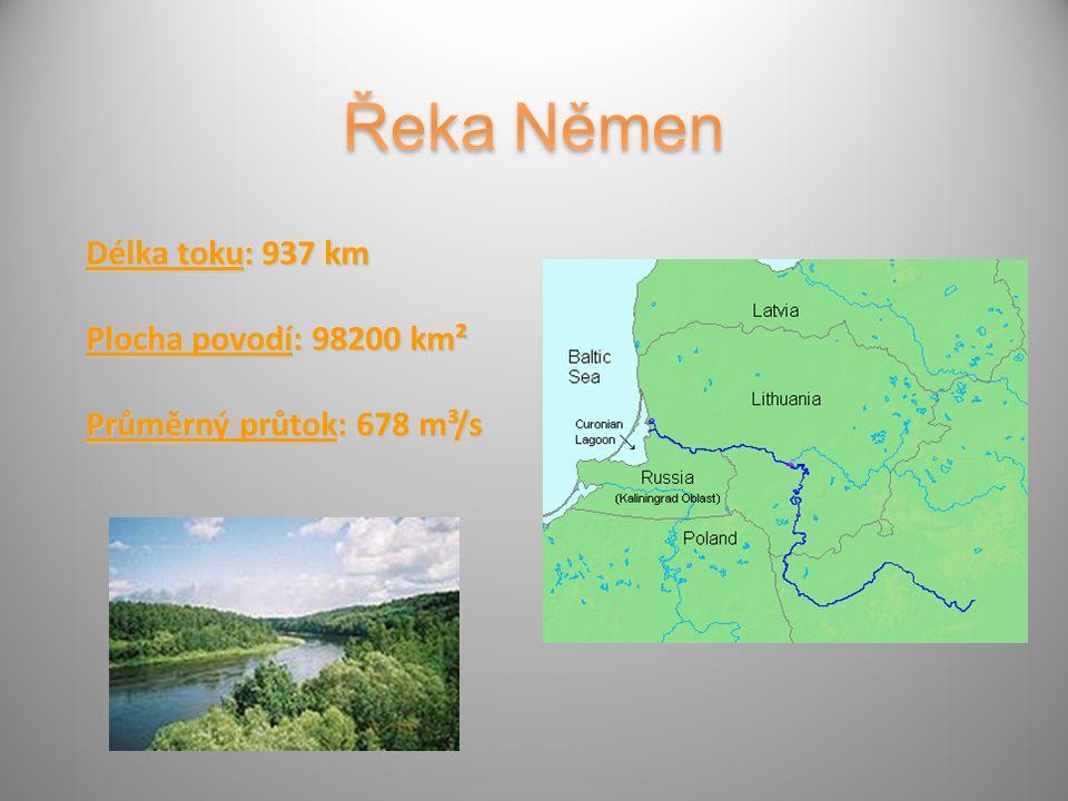Délka toku: 937 km Plocha povodí: 98200 km² Průměrný průtok: 678 m³/s
