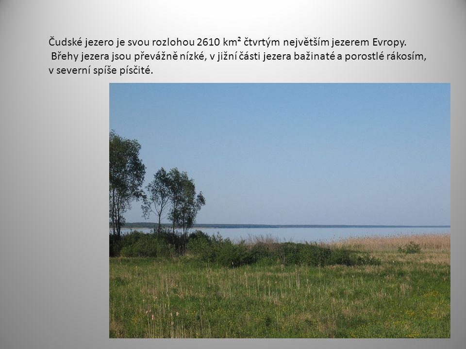 Čudské jezero je svou rozlohou 2610 km² čtvrtým největším jezerem Evropy.