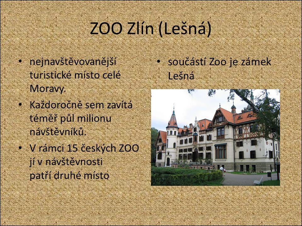 ZOO Zlín (Lešná) nejnavštěvovanější turistické místo celé Moravy.