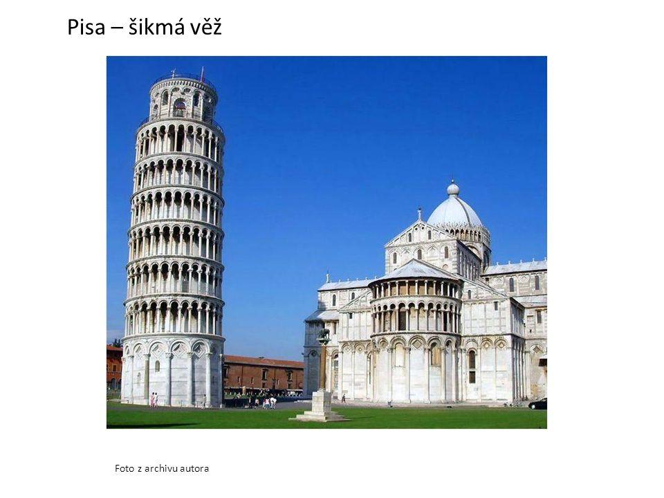 Pisa – šikmá věž Foto z archivu autora