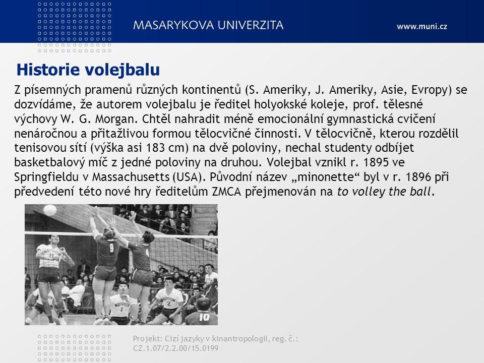 Historie volejbalu Z písemných pramenů různých kontinentů (S.