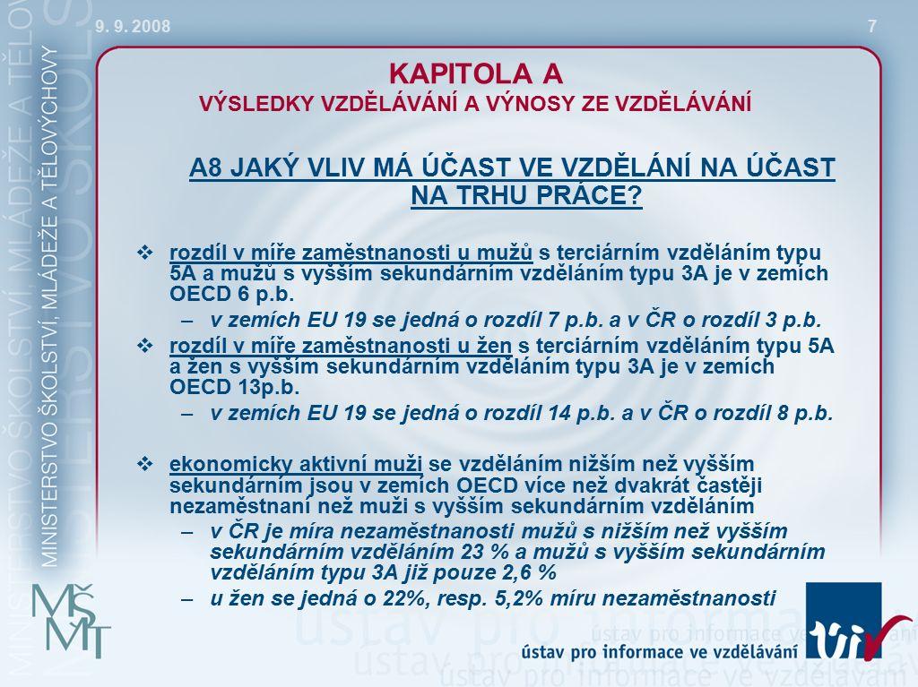 9. 9. 200818 KAPITOLA D ŠKOLNÍ PROSTŘEDÍ A ORGANIZACE ŠKOL D3 JAK JSOU UČITELÉ ODMĚŇOVÁNI?