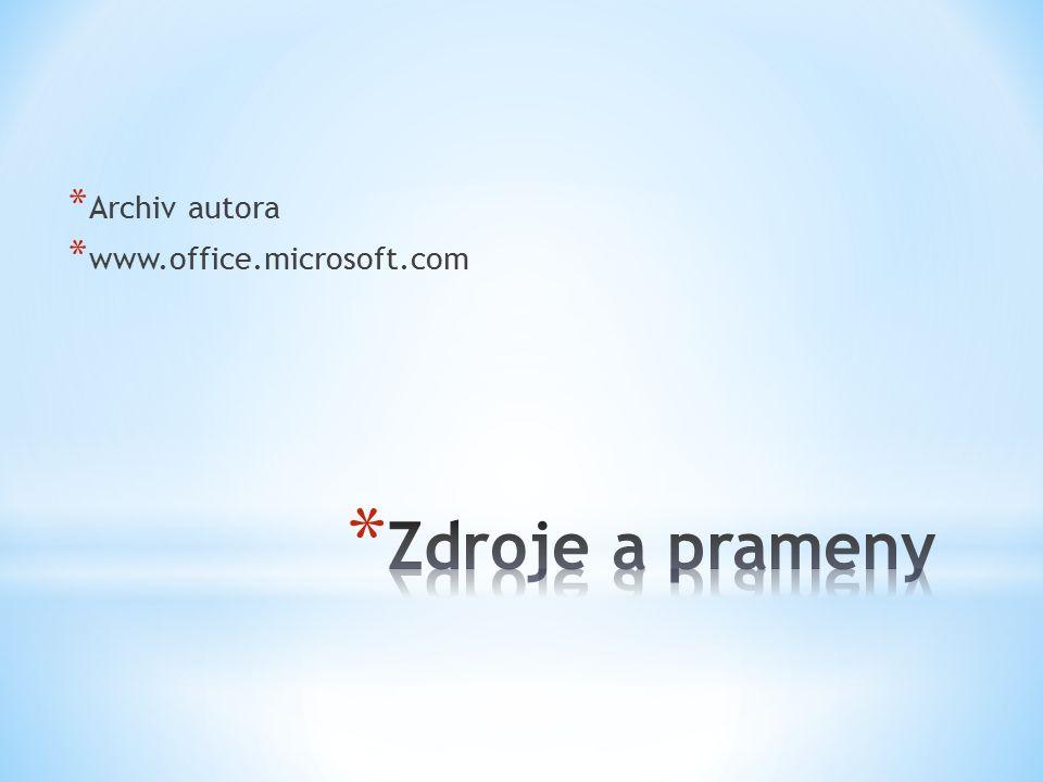 * Archiv autora * www.office.microsoft.com
