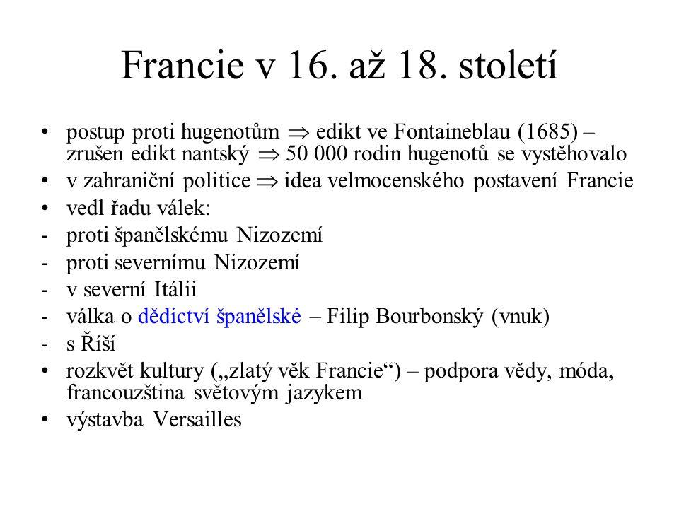 Francie v 16.až 18.