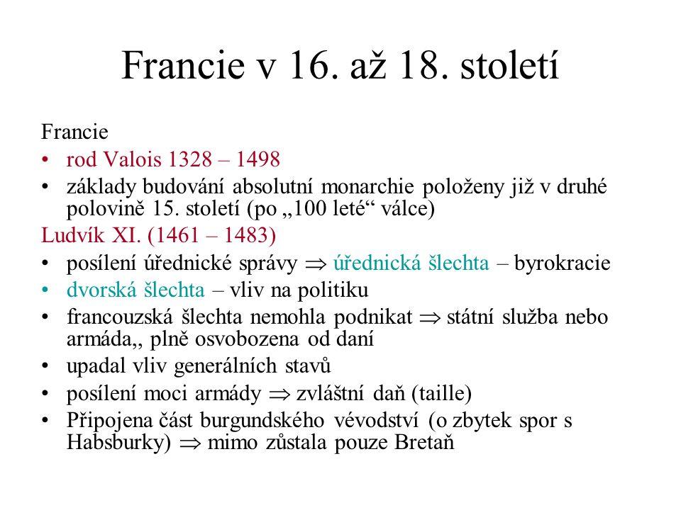 Francie v 16.až 18. století Kapetovci – Valois – Orleánští (1498 – 1589) Ludvík XII.