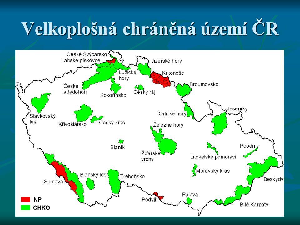 Velkoplošná chráněná území ČR