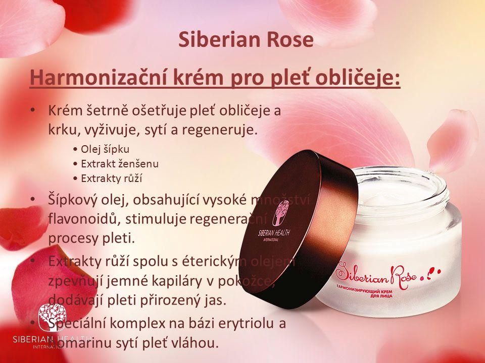 Siberian Rose Harmonizační krém pro pleť obličeje: Krém šetrně ošetřuje pleť obličeje a krku, vyživuje, sytí a regeneruje.