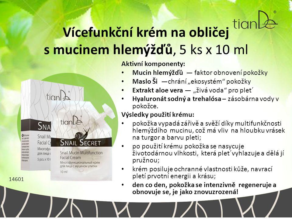 """Vícefunkční krém na obličej s mucinem hlemýžďů, 5 ks x 10 ml Aktivní komponenty: Mucin hlemýžďů — faktor obnovení pokožky Maslo Ši —chrání """"ekosystém"""""""