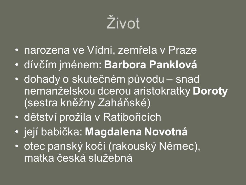 Život narozena ve Vídni, zemřela v Praze dívčím jménem: Barbora Panklová dohady o skutečném původu – snad nemanželskou dcerou aristokratky Doroty (ses