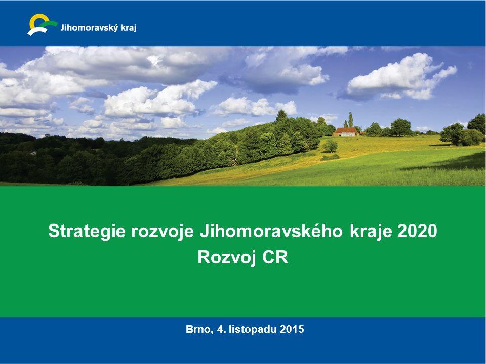 Strategie rozvoje Jihomoravského kraje 2020 Rozvoj CR Brno, 4. listopadu 2015