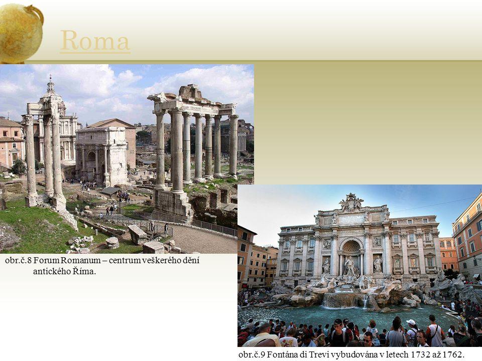 Roma obr.č.8 Forum Romanum – centrum veškerého dění antického Říma.