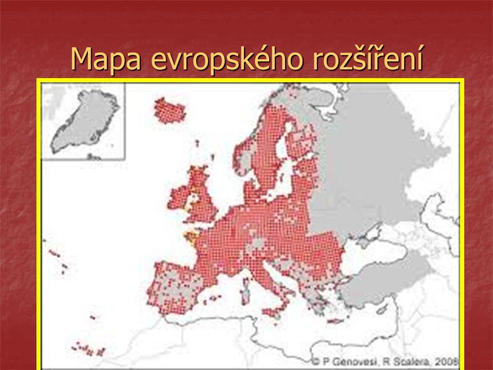 Mapa evropského rozšíření