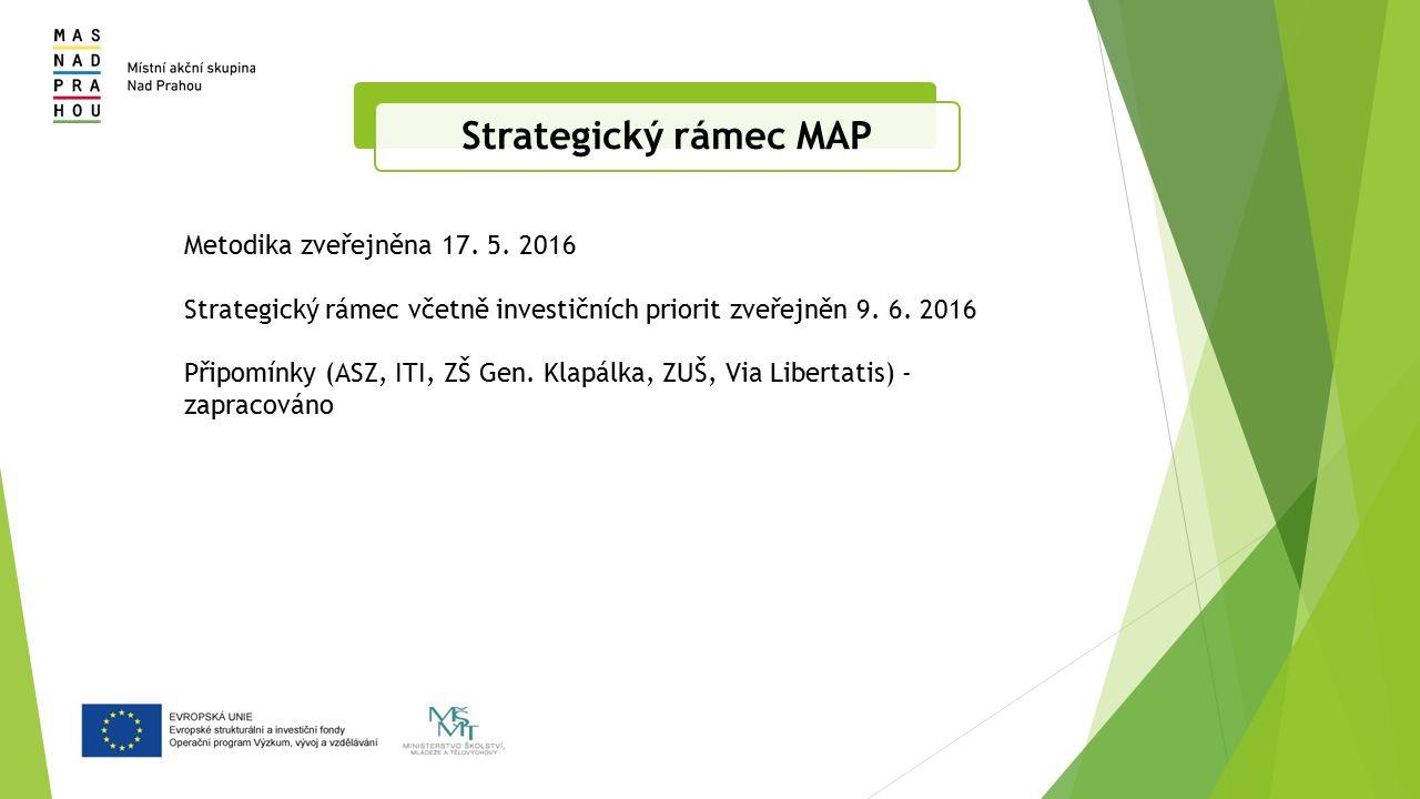 Strategický rámec MAP Metodika zveřejněna 17. 5.