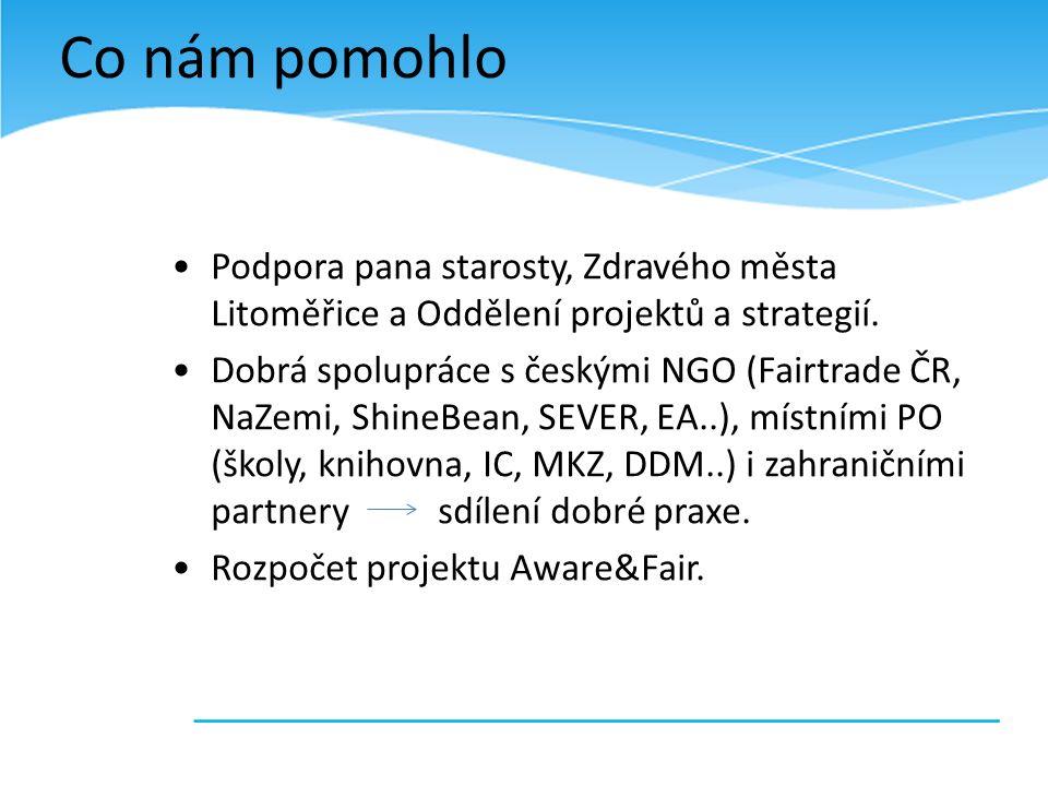 Podpora pana starosty, Zdravého města Litoměřice a Oddělení projektů a strategií.