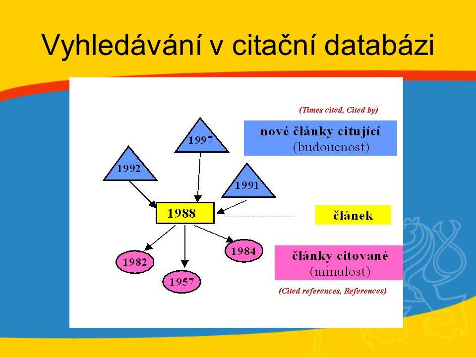 Vyhledávání v citační databázi