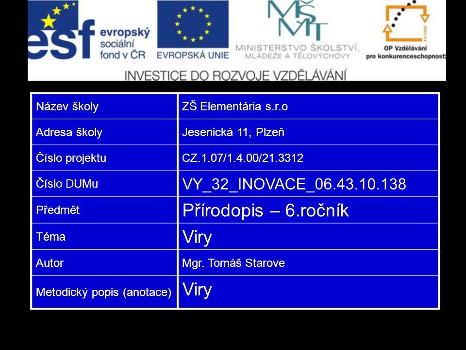 Použité zdroje http://vnl.xf.cz/gen/obr/viry13.png http://www.velkaencyklopedie.estranky.cz/img/original/476/stavba-viru.png http://images.gizmag.com/hero/bacteriophage.jpg http://www.biopedia.sk/molekularka/lambda.gif http://www.medicalj.ru/images/infekcii/vetryanka2.jpg http://static.zalekarem.cloud.fishcms.cz/media/image/2-herpes-virus.jpg http://img.mf.cz/943/852/1-64.jpg http://img.mf.cz/834/675/1-15a.jpg http://www.rkm.com.au/VIRUS/HIV/HIV-images/HIV-virus.jpg http://www.armageddononline.org/image/virus4.JPG http://media.heavy.com/media/2013/02/SARS.jpg http://upload.wikimedia.org/wikipedia/commons/2/26/Tobacco_mosaic_virus_ symptoms_tobacco.jpghttp://upload.wikimedia.org/wikipedia/commons/2/26/Tobacco_mosaic_virus_ symptoms_tobacco.jpg http://imgc.allpostersimages.com/images/P-473-488- 90/64/6463/MPVH100Z/posters/niko-grigorieff-tobacco-mosaic-virus-tmv.jpghttp://imgc.allpostersimages.com/images/P-473-488- 90/64/6463/MPVH100Z/posters/niko-grigorieff-tobacco-mosaic-virus-tmv.jpg http://xahlee.org/Periodic_dosage_dir/i/map/HIV_world_map.png