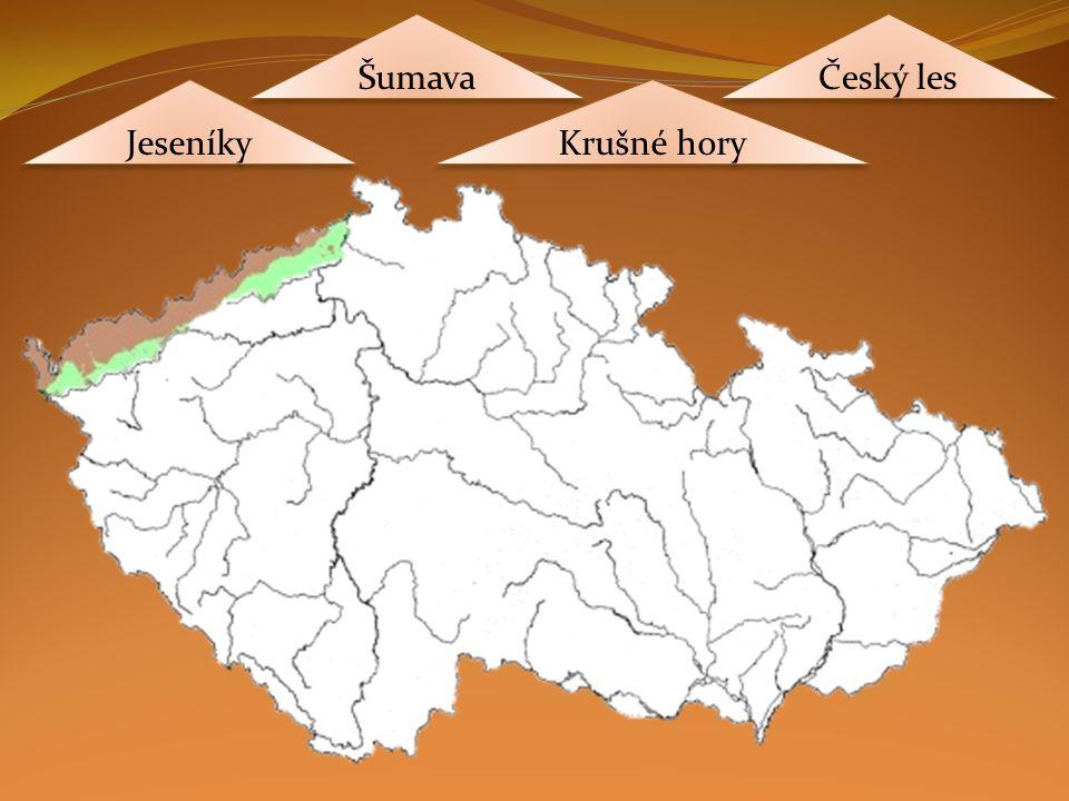 Jeseníky Krušné hory Šumava Český les