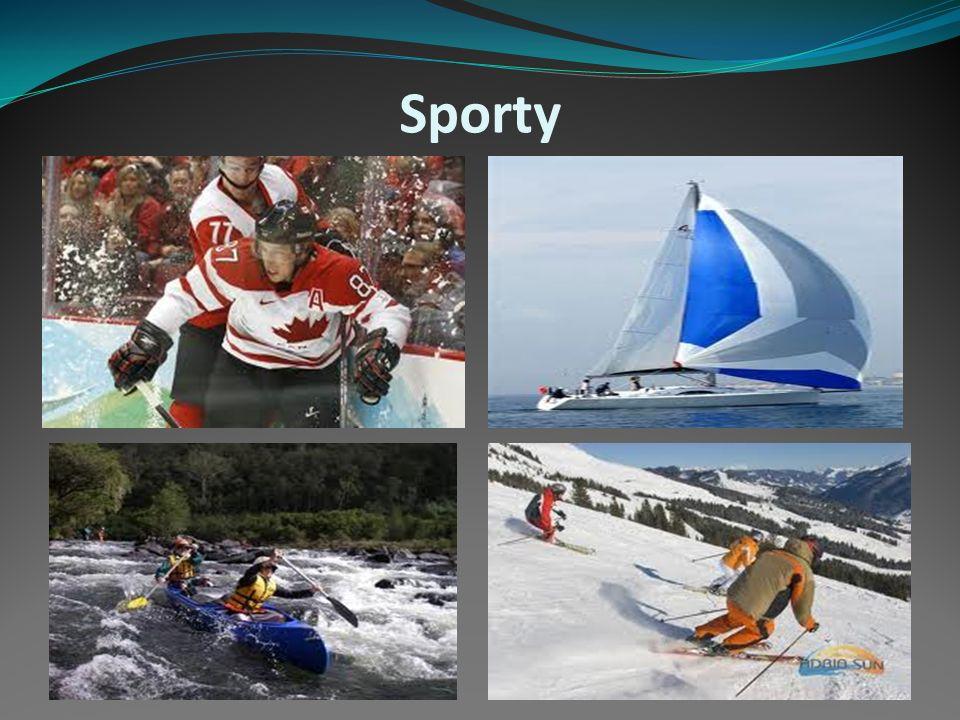 SPORT Zimní sporty, jako je lyžování, bruslení, a lední hokej, jsou v Kanadě popularní, protože zimy jsou tam dlouhé a o sníh a led není nikdy nouze.