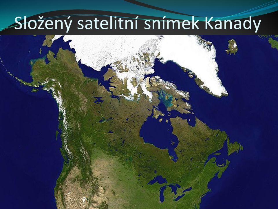 Kanadské území zahrnuje severní část Severní Ameriky.