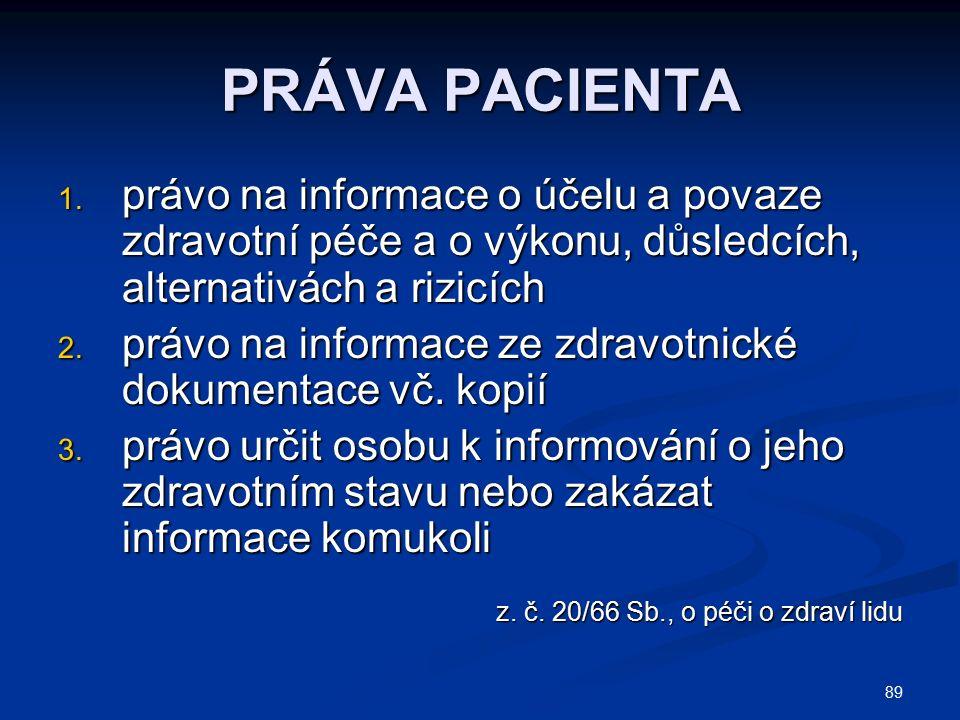 89 PRÁVA PACIENTA 1.