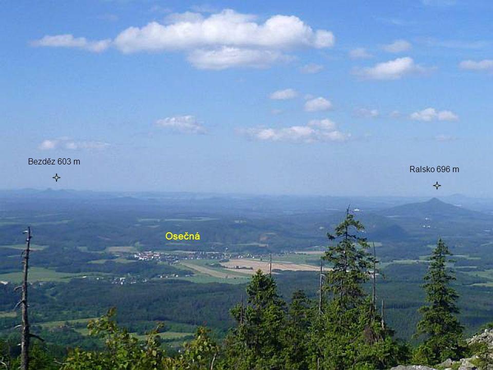 Osečná Bezděz 603 m Ralsko 696 m