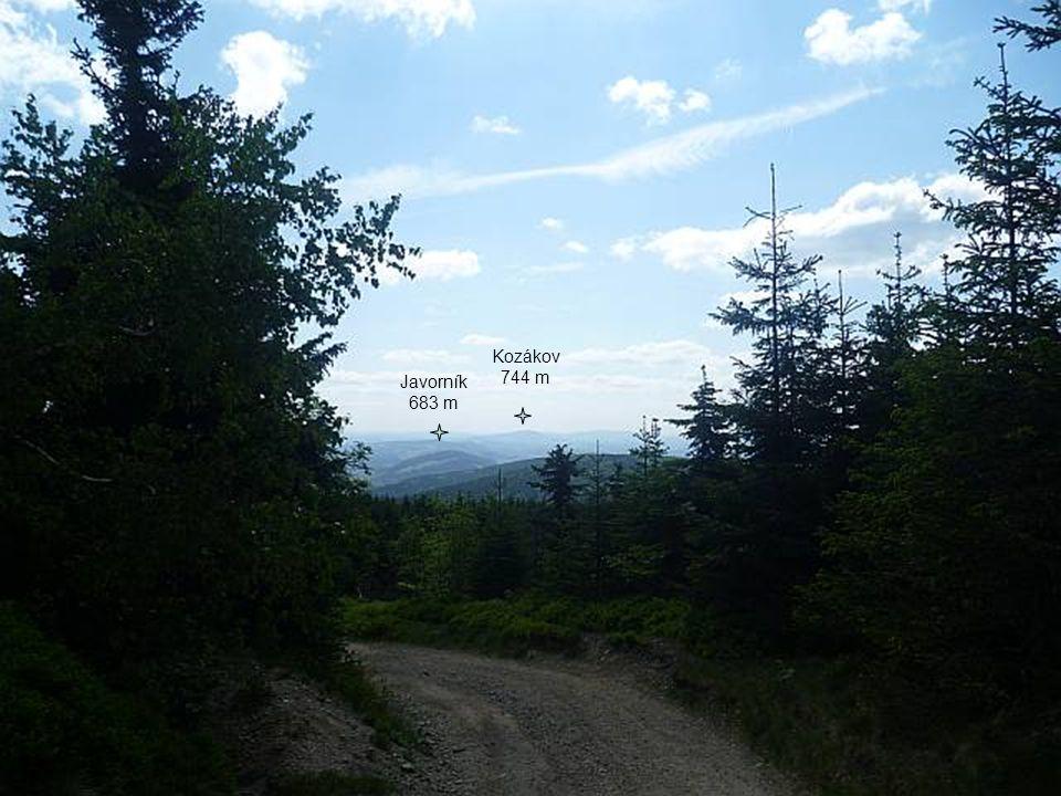 Javorník 683 m Kozákov 744 m