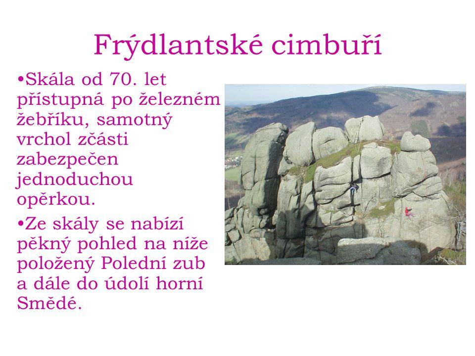Frýdlantské cimbuří Skála od 70.