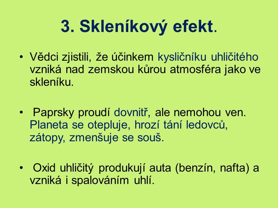 3. Skleníkový efekt.