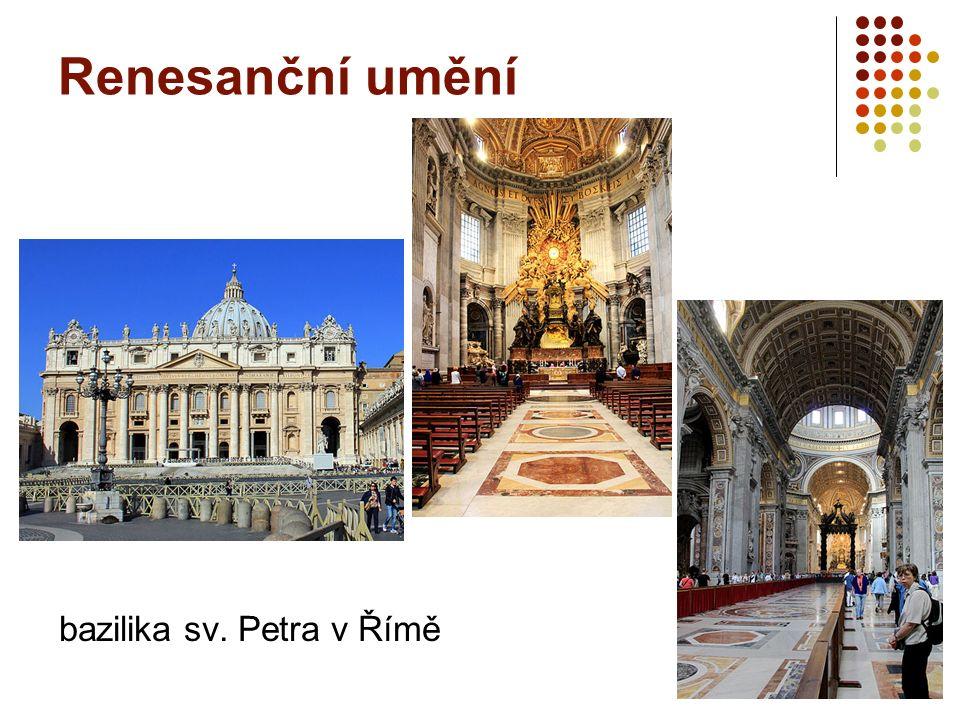 Renesanční umění bazilika sv. Petra v Římě