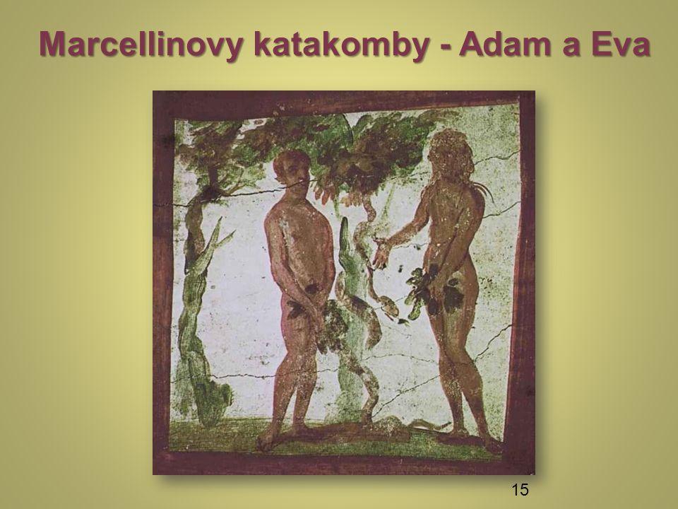 Marcellinovy katakomby - Adam a Eva 15