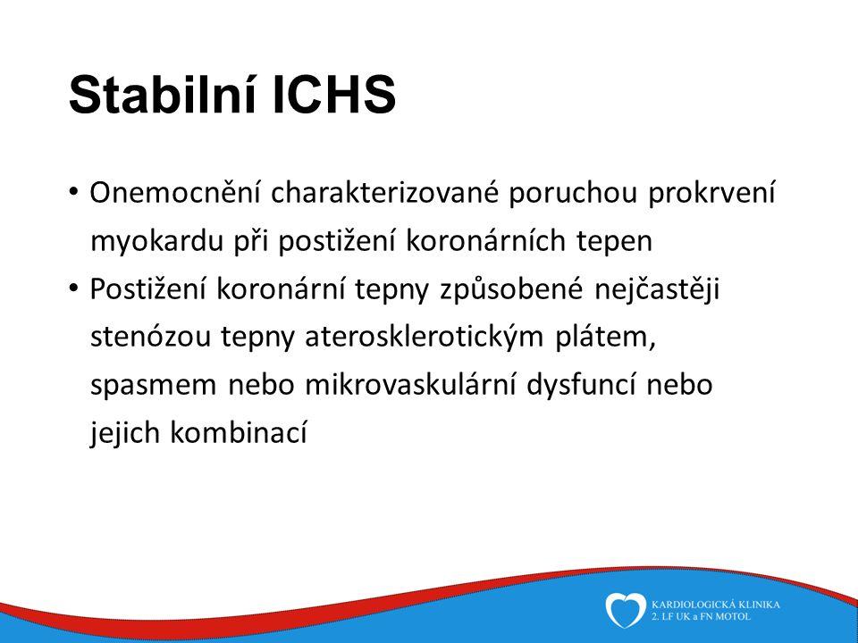 Farmakoterapie stabilní ICHS Zdravé lumen cévy Tepna postižená aterosklerózou: se zvětšováním plátu se zužuje cévní lumen a omezuje se dodávka krve do myokardu.